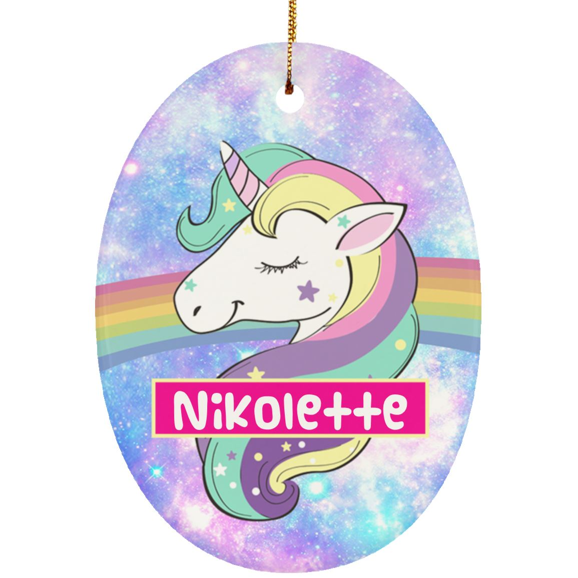 Unicorn Queen Personalized Ornament Housewares One Size