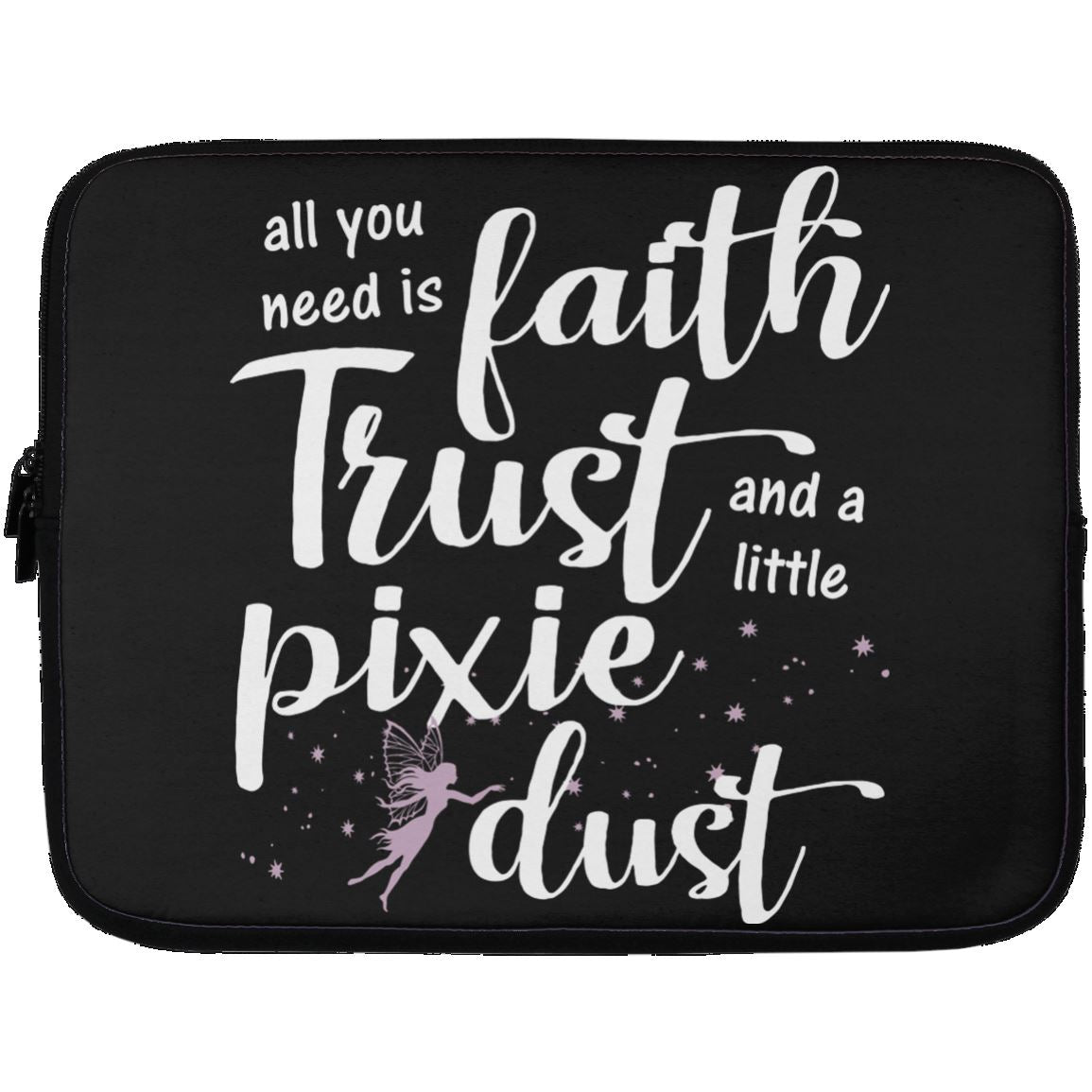 Pixie Dust Fairy Laptop Sleeve Apparel Laptop Sleeve - 13 inch Black One Size