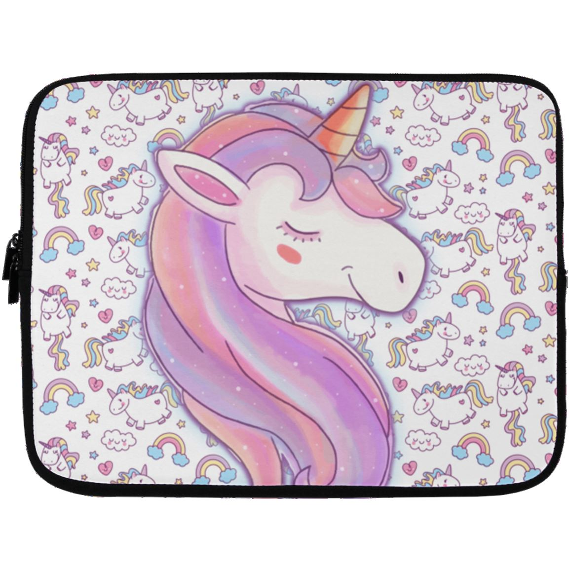 Unicorn Love Laptop Sleeve Apparel Laptop Sleeve - 13 inch White One Size