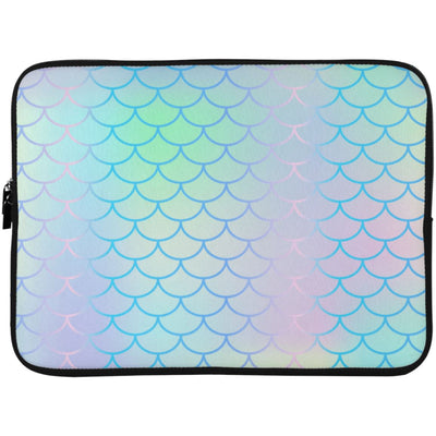 Iridescent Mermaid Laptop Sleeve Apparel Laptop Sleeve - 15 Inch White One Size