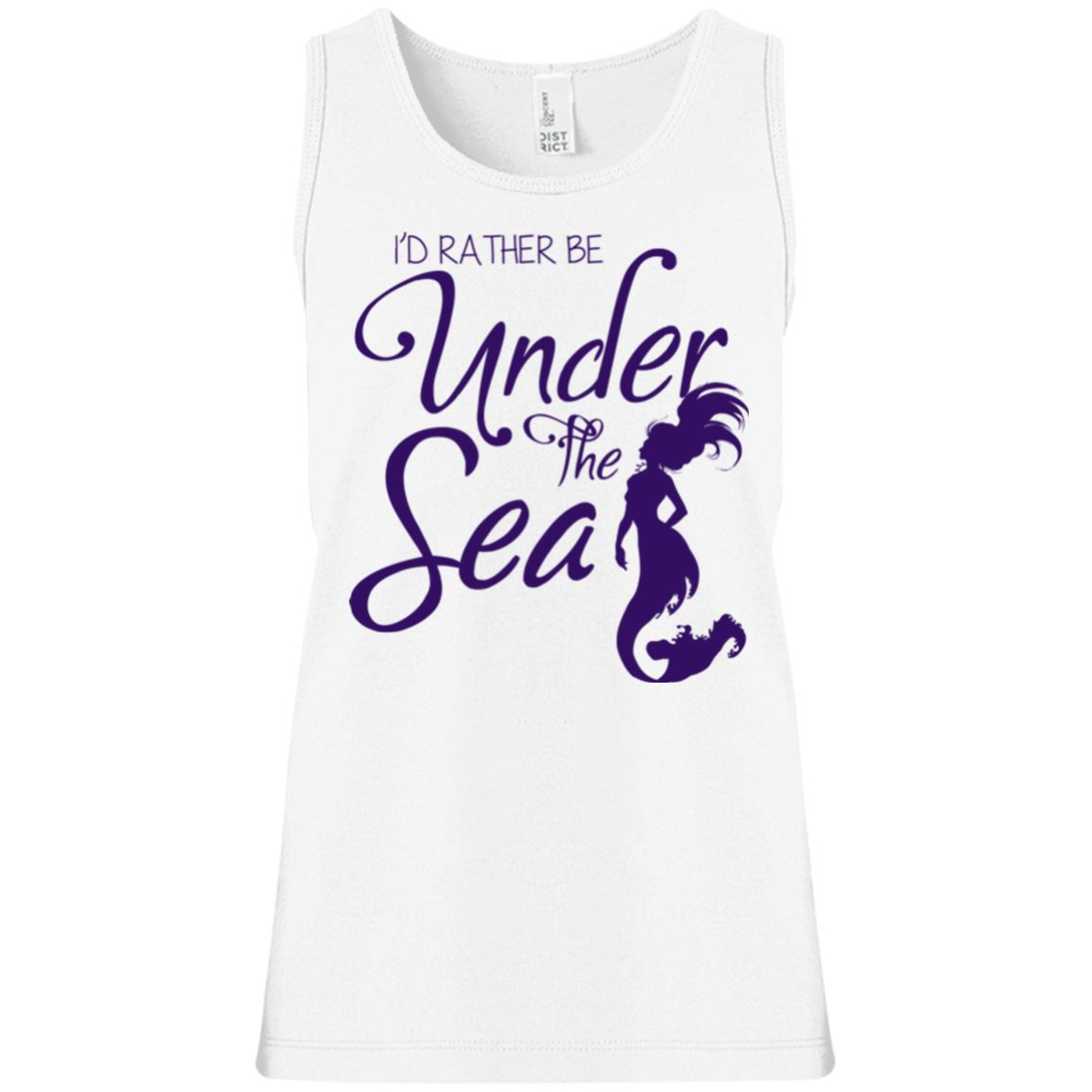 Under The Sea Girls' Tank Top Mermaid Apparel White YXS
