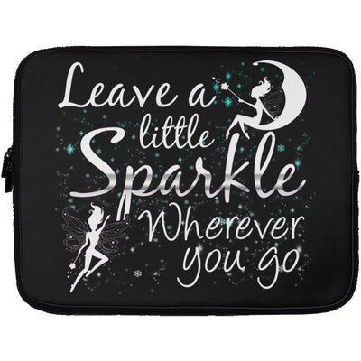 Leave A Little Sparkle Fairy Laptop Sleeve Apparel Laptop Sleeve - 13 inch Black One Size
