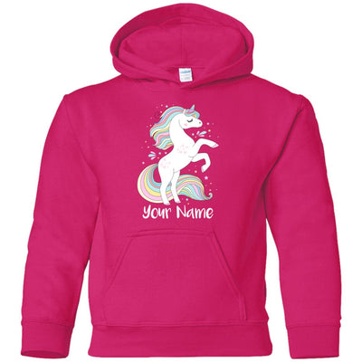 Personalized Sweet Unicorn Youth Pullover Hoodie Sweatshirts Heliconia YS