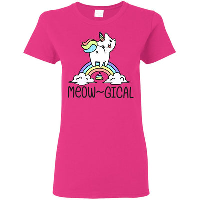 Meowgical Kitty Unicorn Women's T-Shirt Apparel Heliconia S