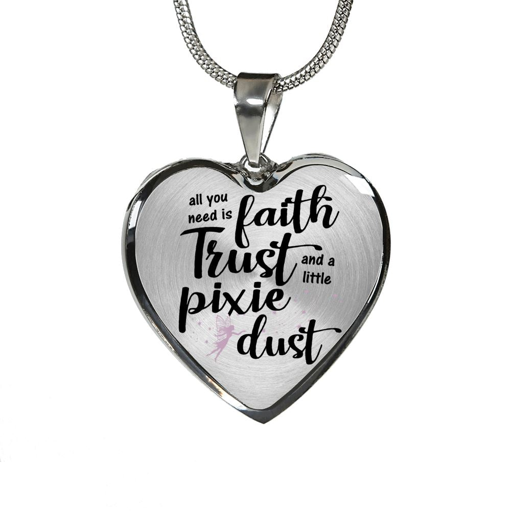 Pixie Dust Luxury Heart Necklace Jewelry Luxury Necklace (Silver) No
