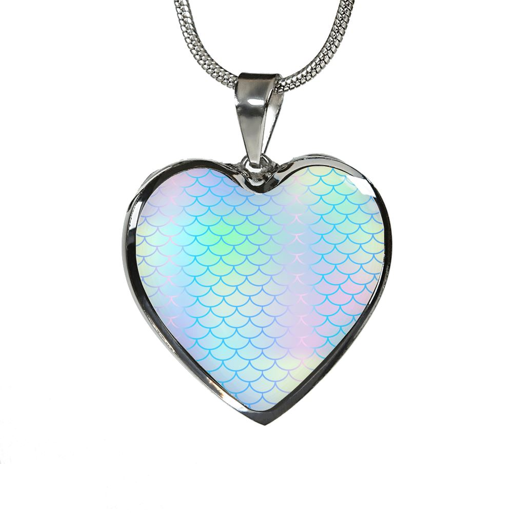 Mermaid Luxury Heart Necklace Mermaid Jewelry Luxury Necklace (Silver) No