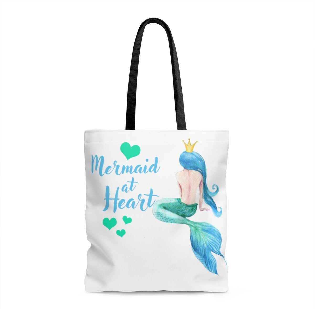 Mermaid At Heart Tote Bag Bags Large