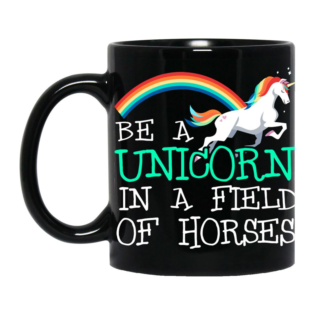Be A Unicorn Black Mug Drinkware