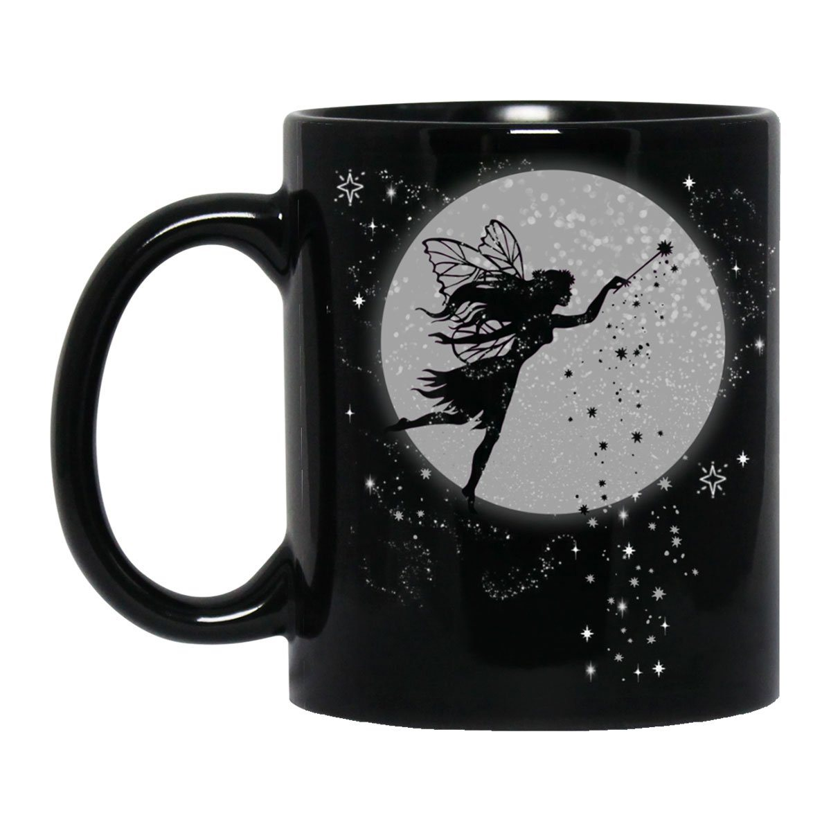 Fairy Dust Black Mug Drinkware Black One Size