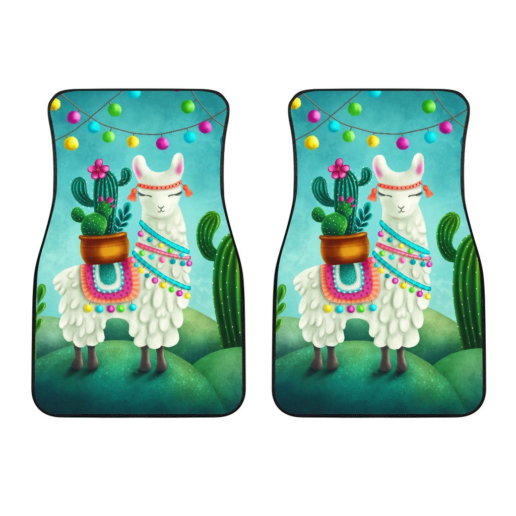Festive Llama Car Floor Mat Set Llama Car Accessories