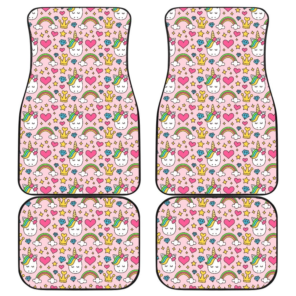 Unicorn Diamond Car Mat Set Car Accessories