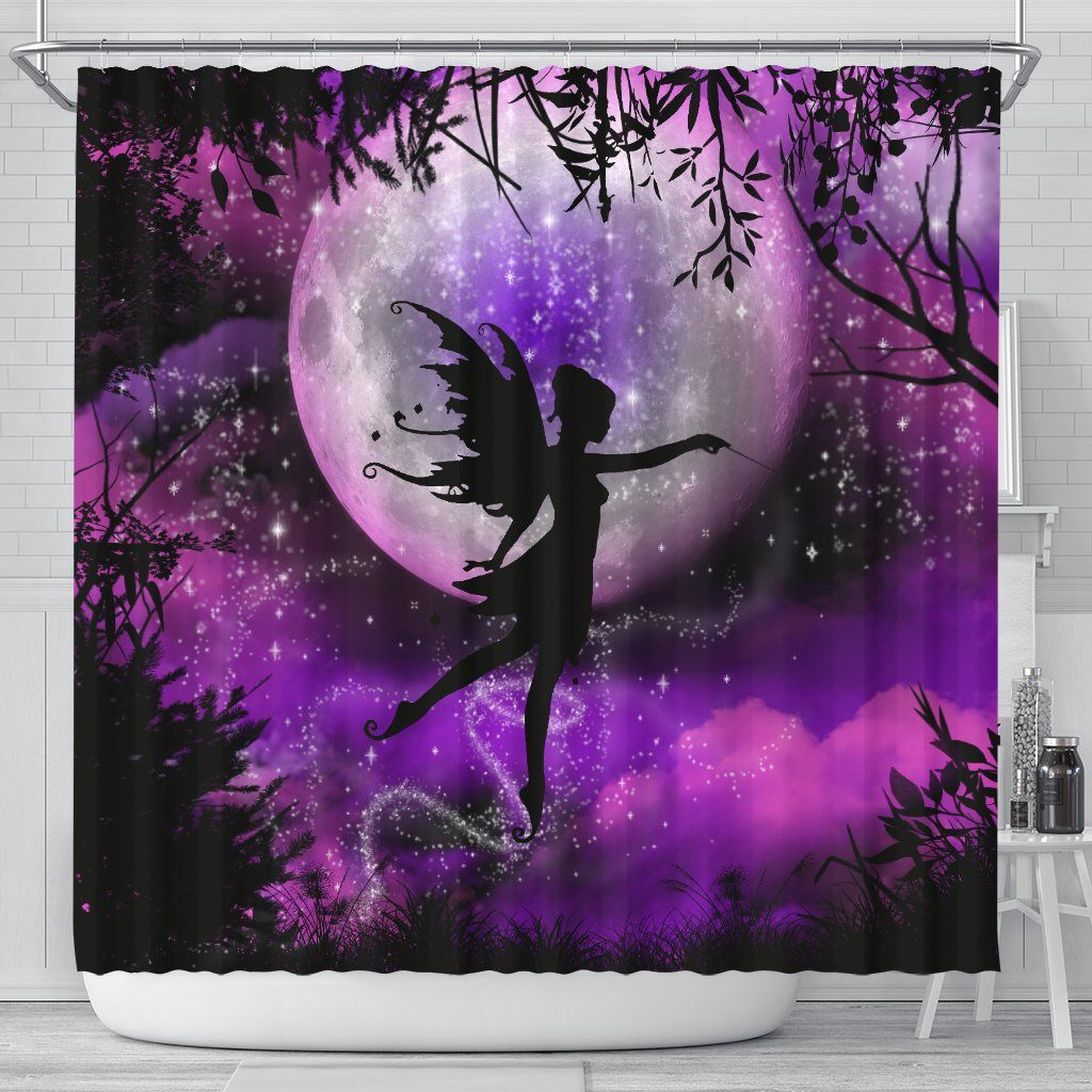Fairy Moon Shower Curtain Shower Curtains