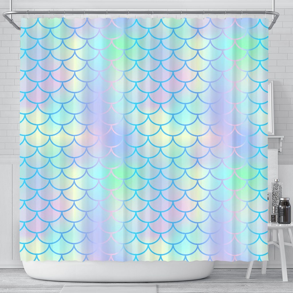 Mermaid Scales Shower Curtain Mermaid Home Decor