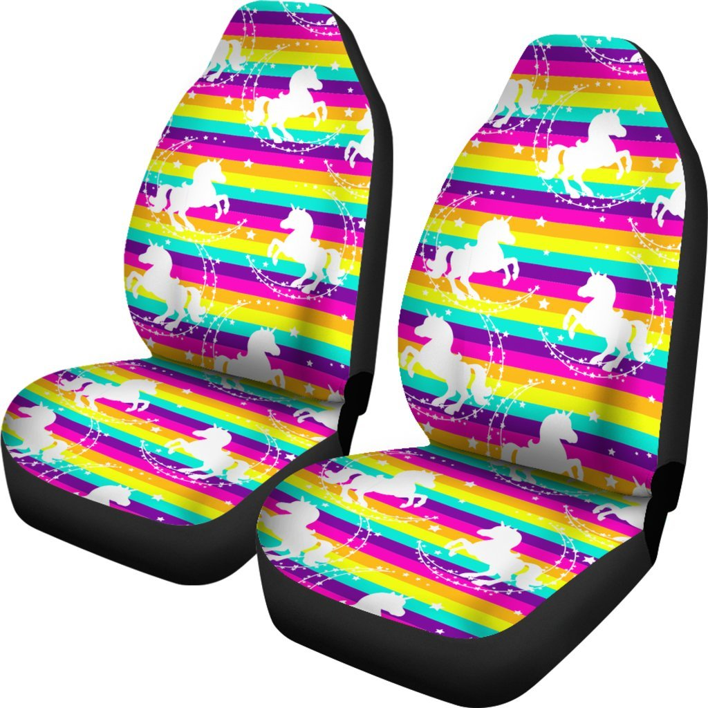 Crazy Rainbows Unicorn Car Seat Covers Car Accessories