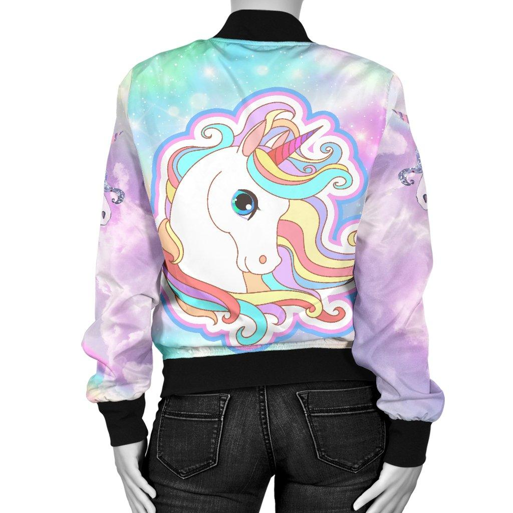 Unicorn Sparkle Women's Bomber Jacket Hoodies