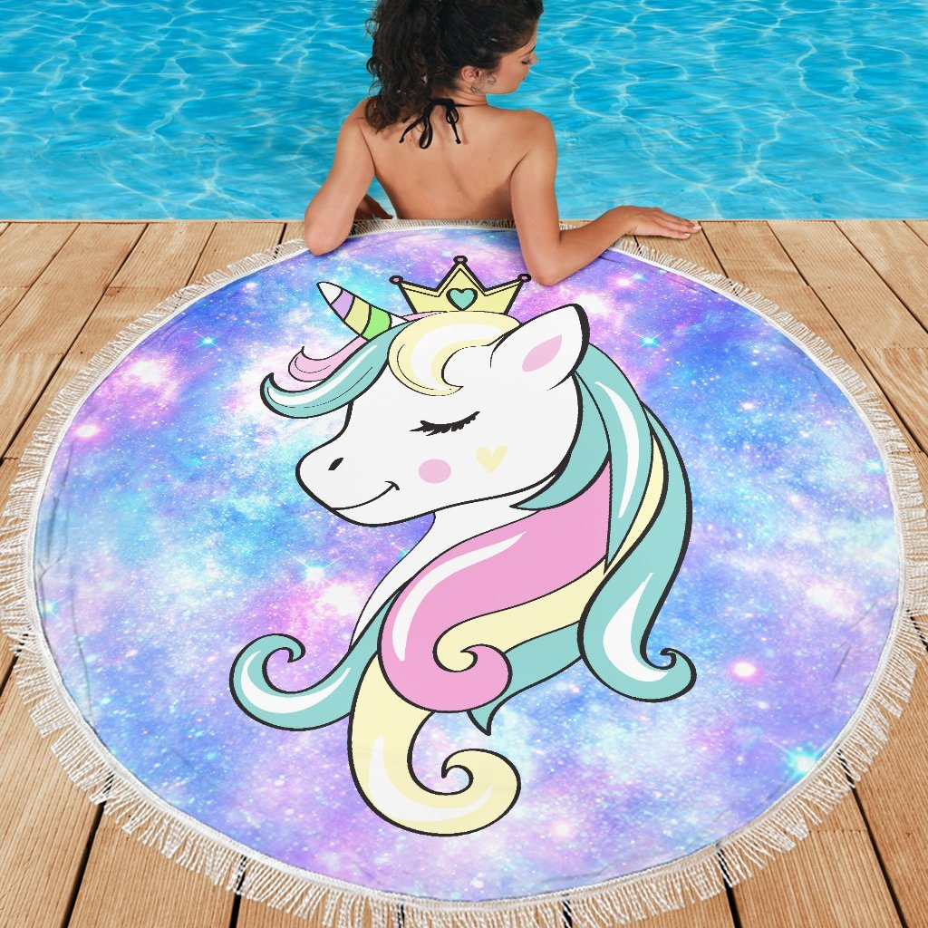 Princess Unicorn Beach Blanket