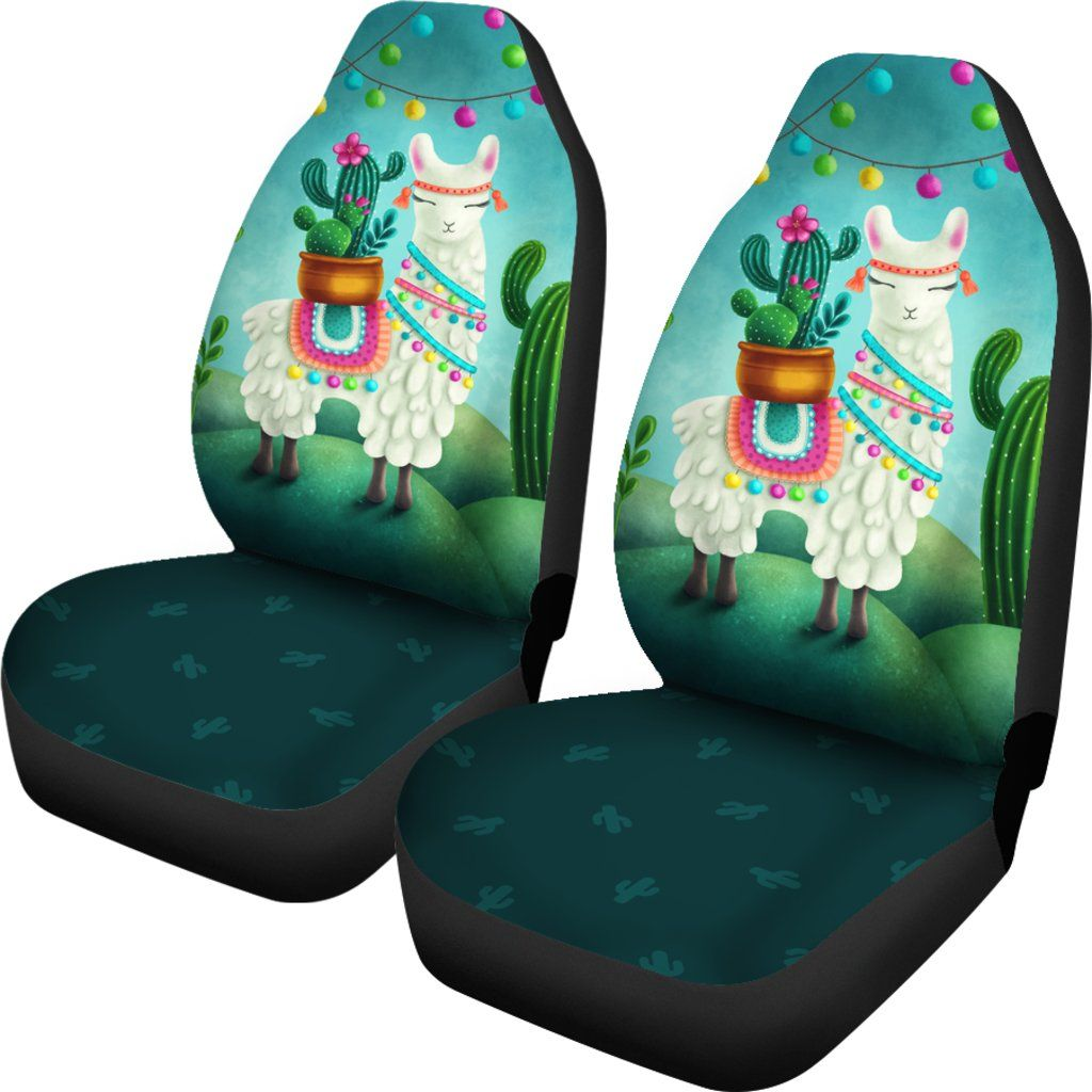 Festive Llama Car Seat Covers Llama Car Accessories