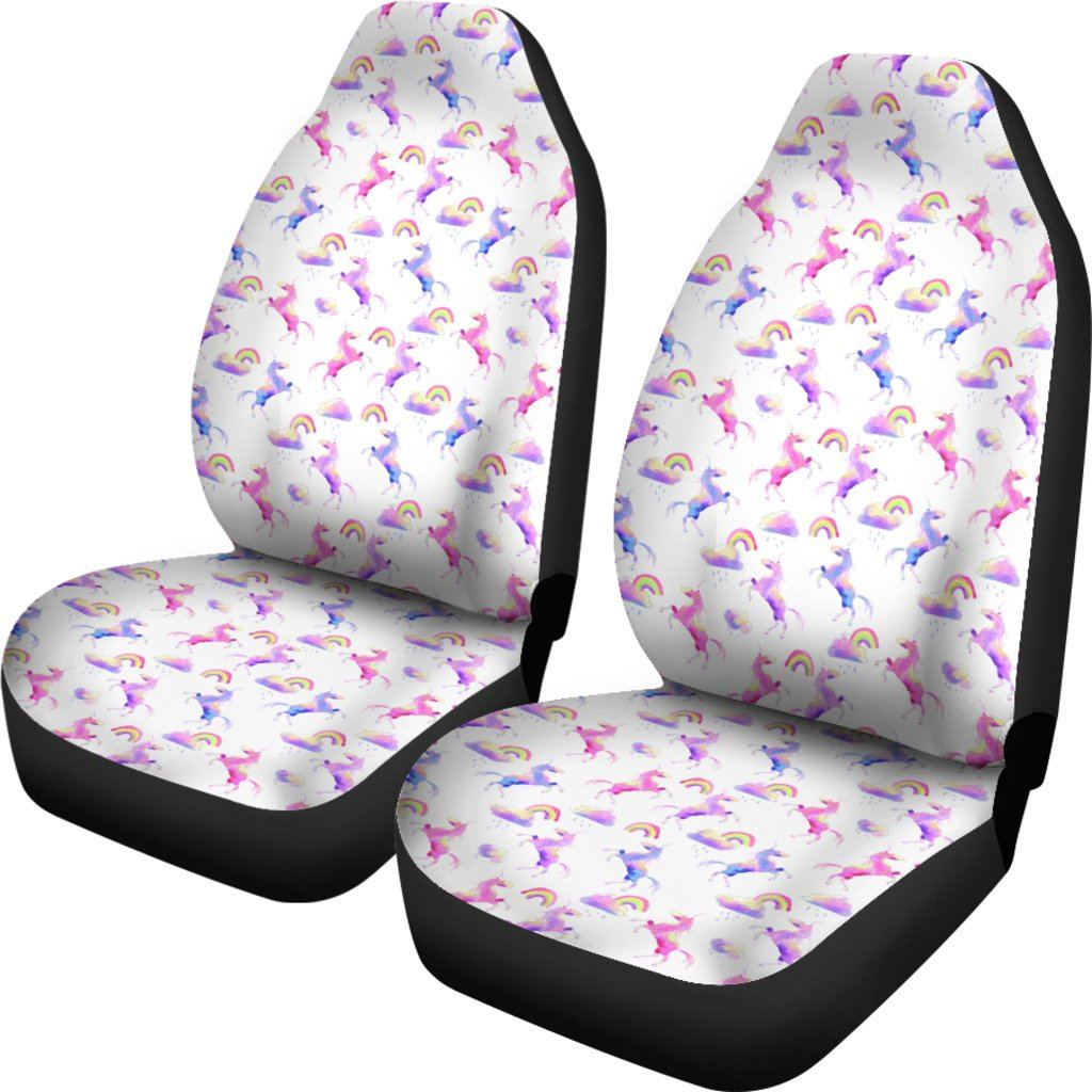 Unicorn Watercolor Car Seat Covers Car Accessories