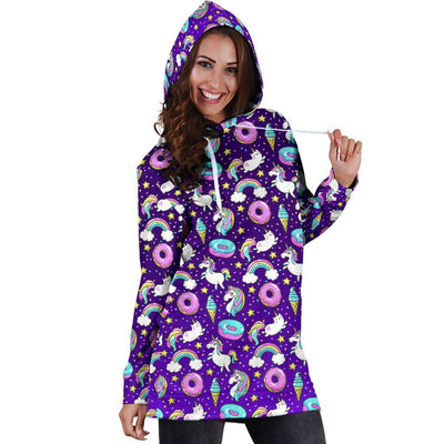Unicorn Fantasy Women's Hoodie Dress Sweatshirt