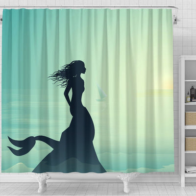 Mermaid Ocean Bathroom Shower Curtain Mermaid Home Decor