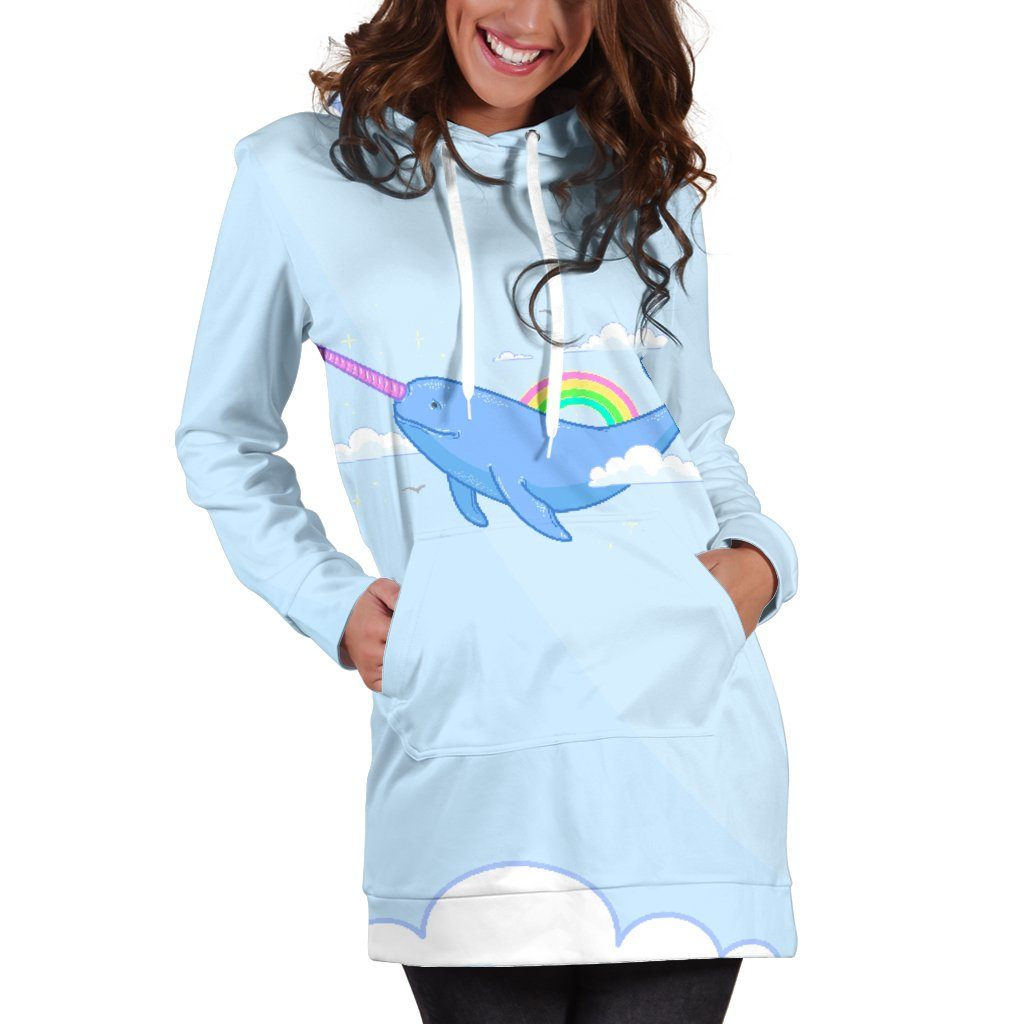 Narwhal Unicorn Women's Hoodie Dress hoodiedress