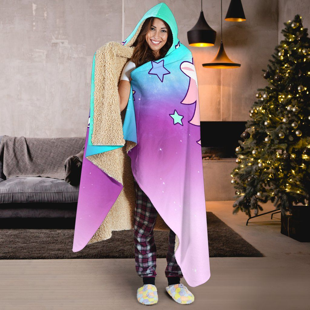 Believe In Magic Unicorn Hoodie Blanket Hooded Blanket