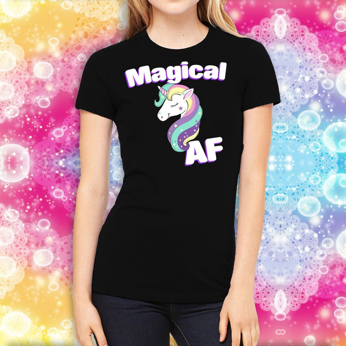 Magical AF Ladies' T-Shirt Apparel