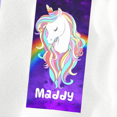 Personalized Magical Unicorn Beach Towel - 32x64 Towels