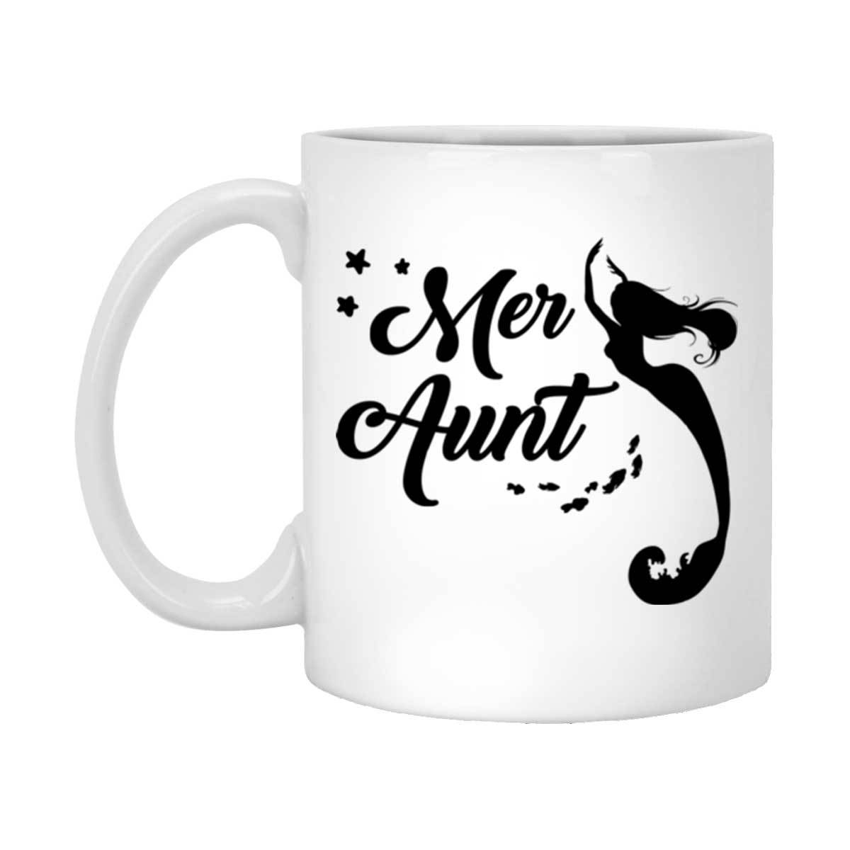 Mer Aunt White Mug Mermaid Drinkware 11 oz