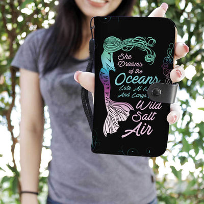 Mermaid Dreams Phone Case Wallet Mermaid Phone Wallets