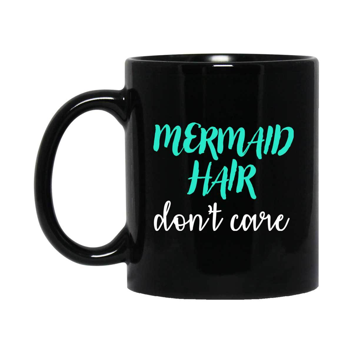 Mermaid Hair Black Mug Mermaid Drinkware 11 oz