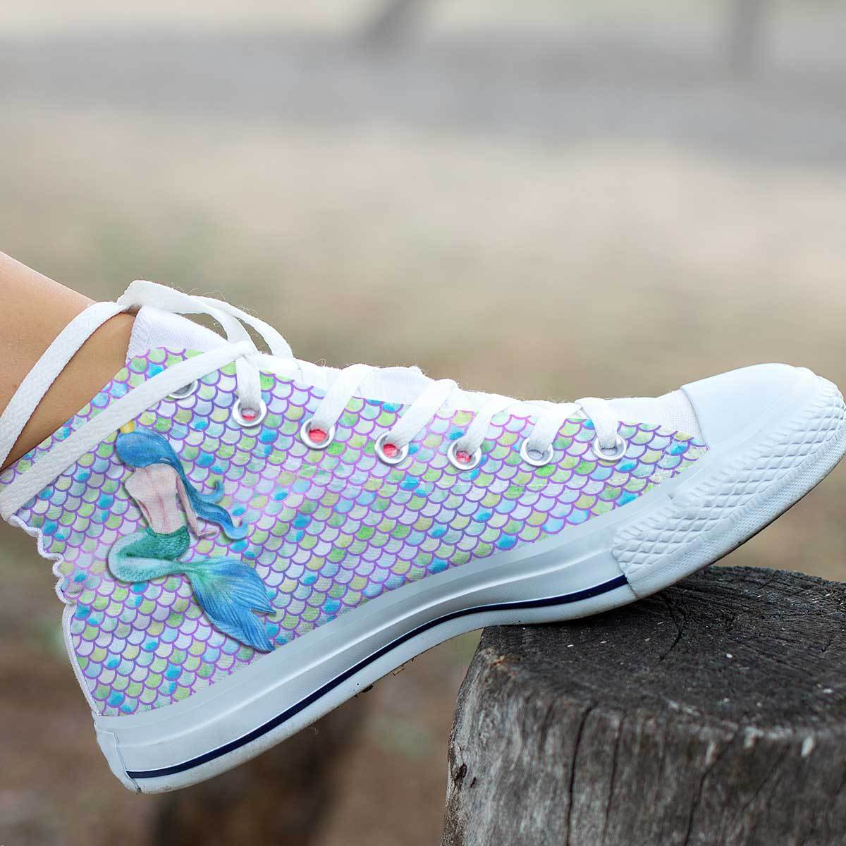 Mermaid Life Women's High Top Sneakers sneakers
