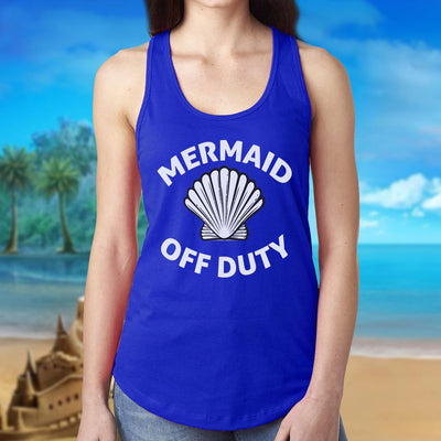 Mermaid Off Duty Ladies Racerback Tank Mermaid Apparel
