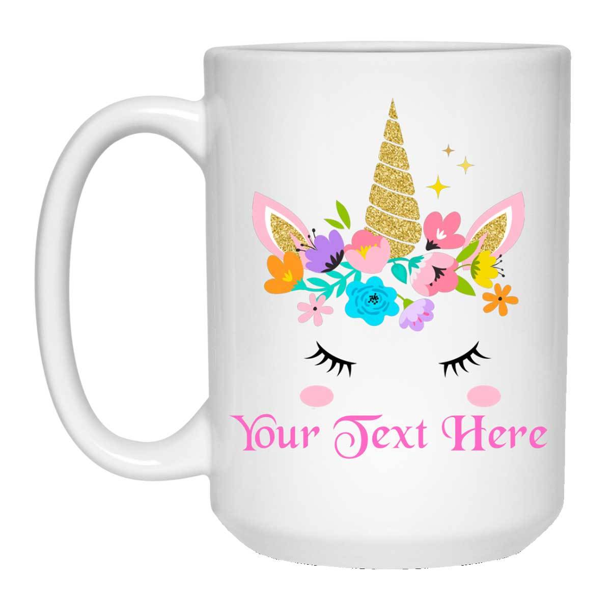 Unicorn Personalized 15 oz. White Mug Drinkware