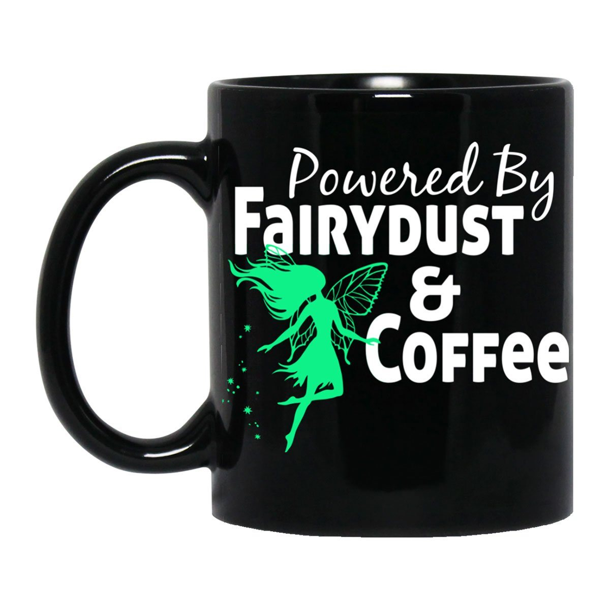 Powered By Fairydust Black Mug Drinkware Black One Size