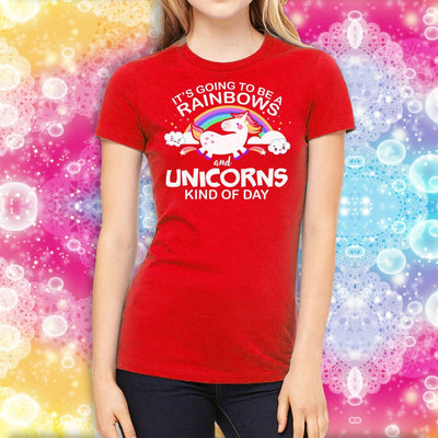 Unicorn & Rainbow Kind of Day Women's T-Shirt Apparel