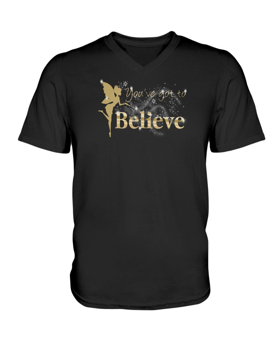 You've Got To Believe Fairy Women's Vneck Tshirt