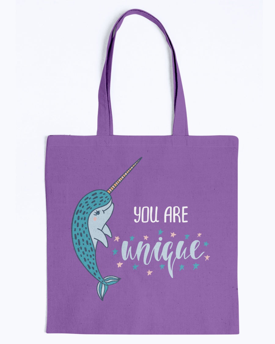 You Are Unique Narwhal Tote Bag