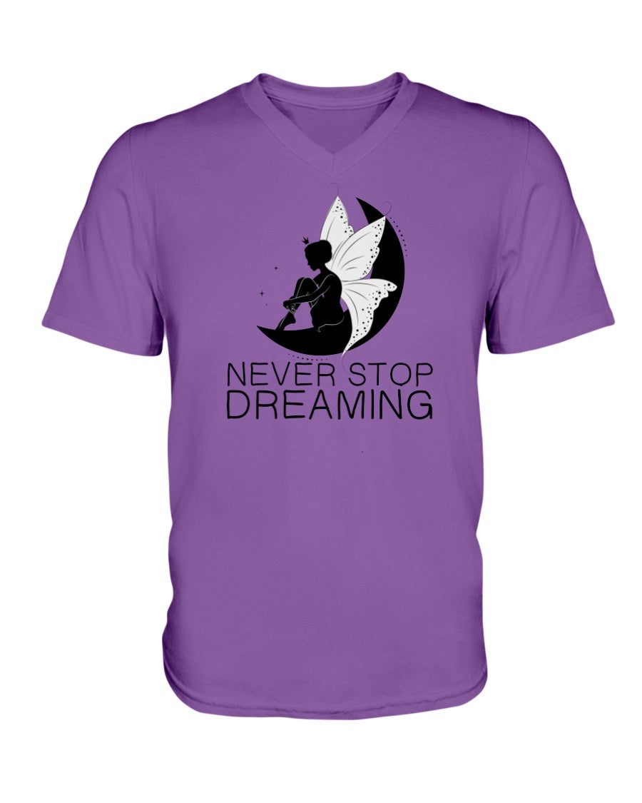 Never Stop Dreaming Fairy Women's Vneck Tshirt