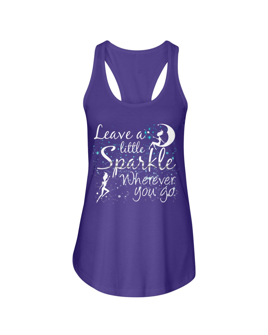 Leave A Little Sparkle FairyLadies Racerback Tank