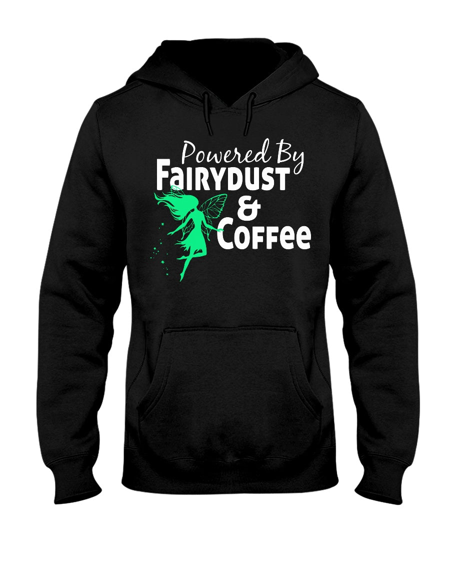 Powered By Fairy Dust & Coffee Adult Hoodie