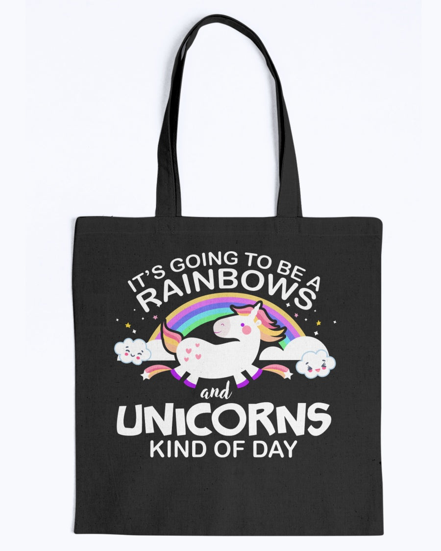 Rainbow & Unicorn Day Tote Bag
