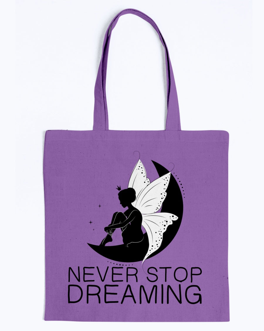 Never Stop Dreaming Fairy Tote Bag