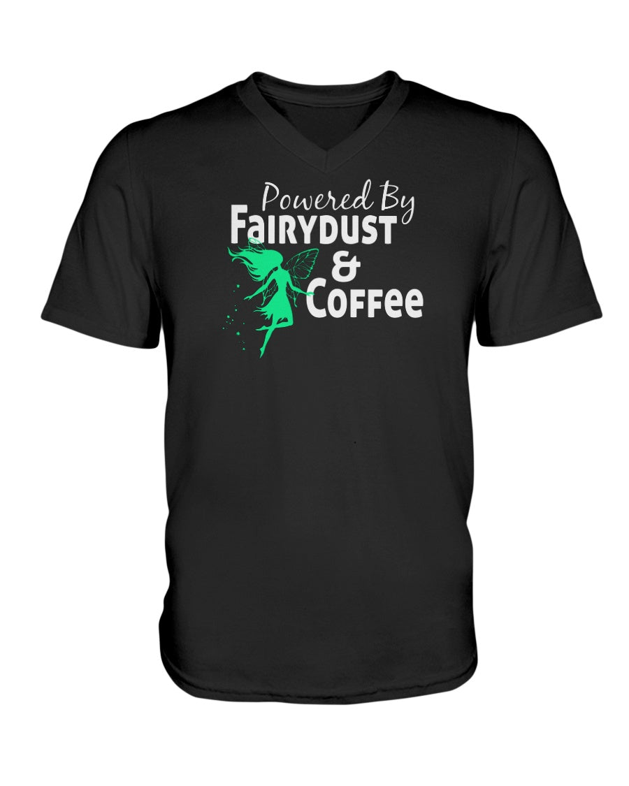 Powered By Fairy Dust & Coffee Women's Vneck TShirt