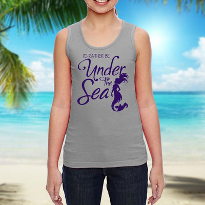 Under The Sea Girls' Tank Top Mermaid Apparel