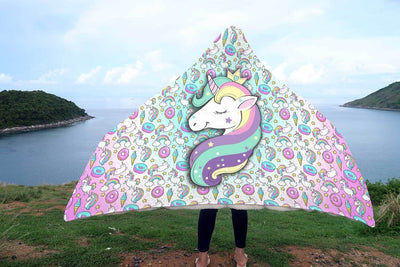 Unicorn Fantasy Hooded Blanket Hooded Blanket