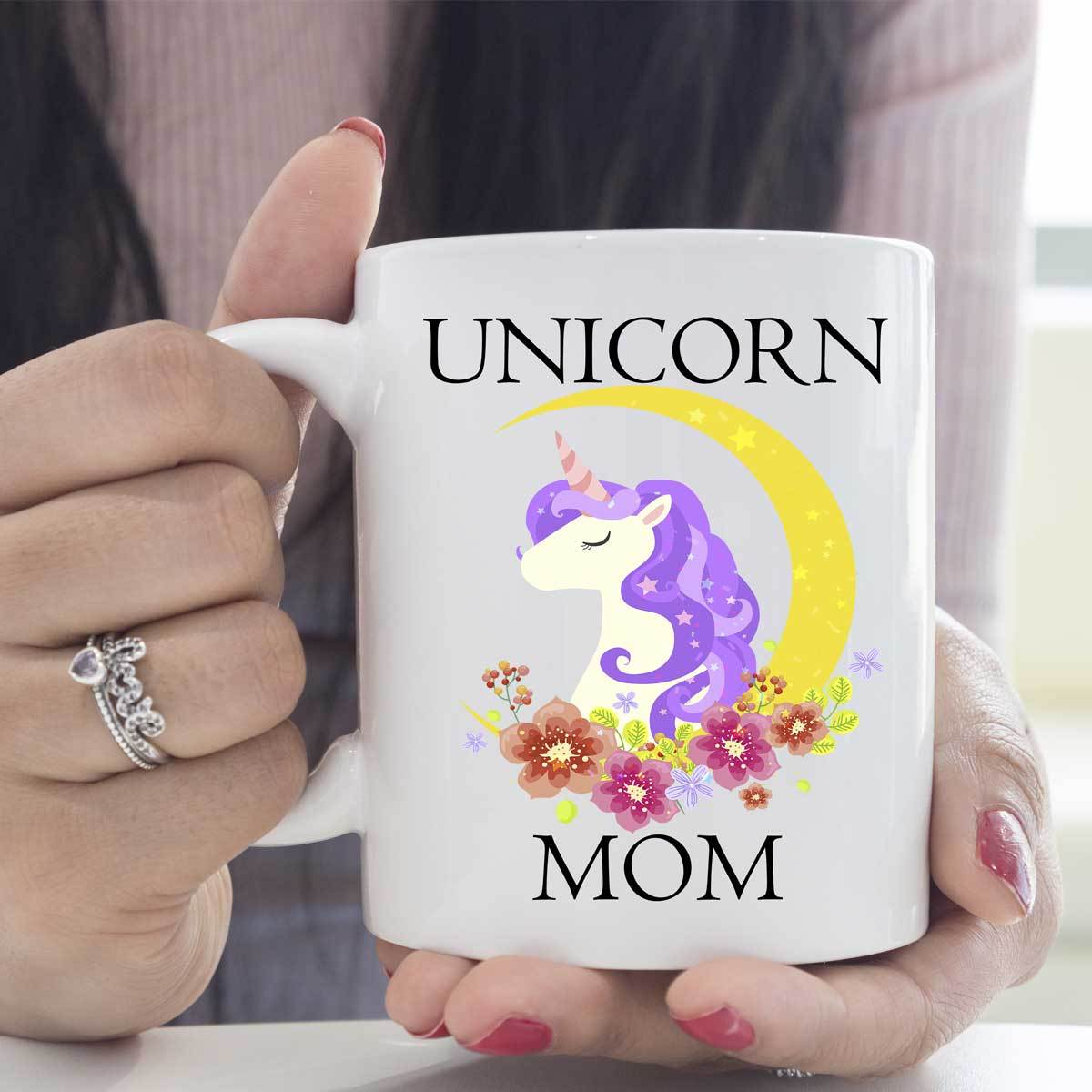 Unicorn Mom White Mug Drinkware