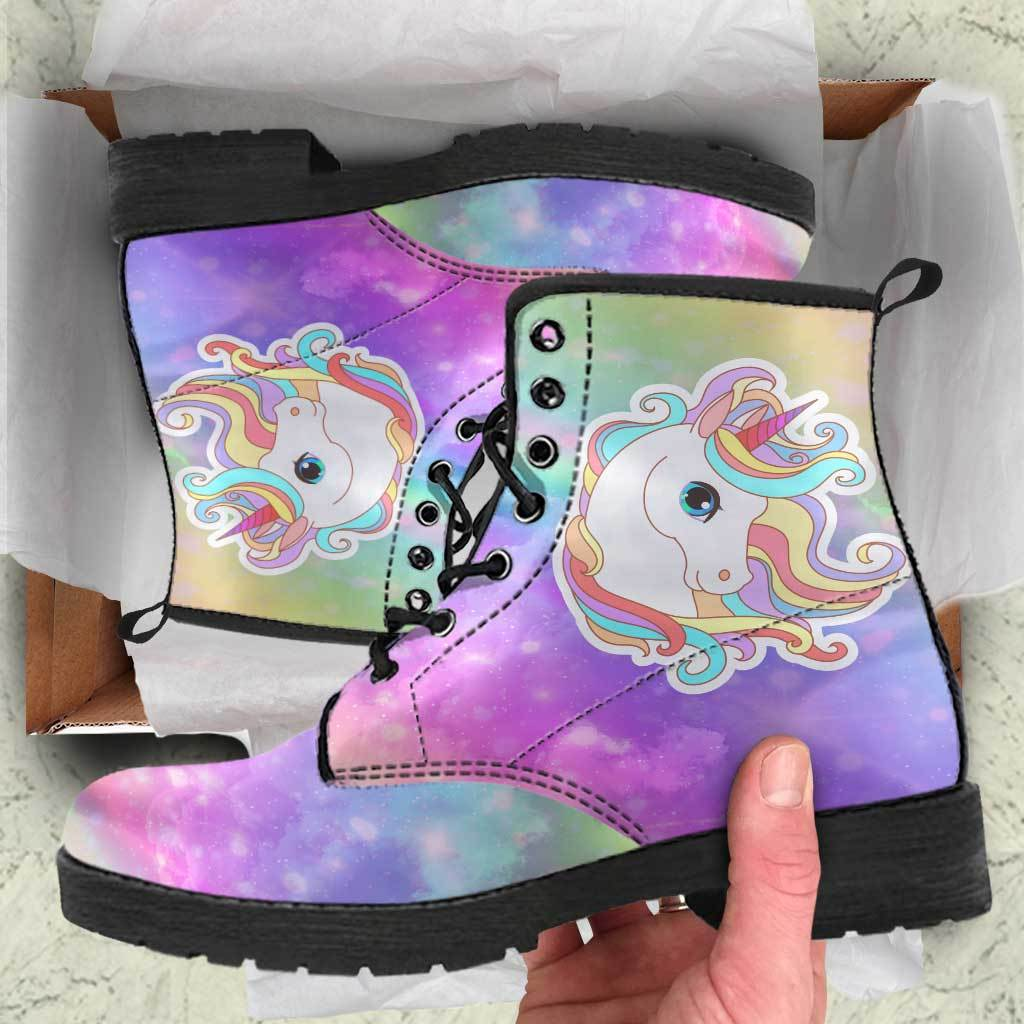 Unicorn Sparkle Women's Leather Boots sneakers