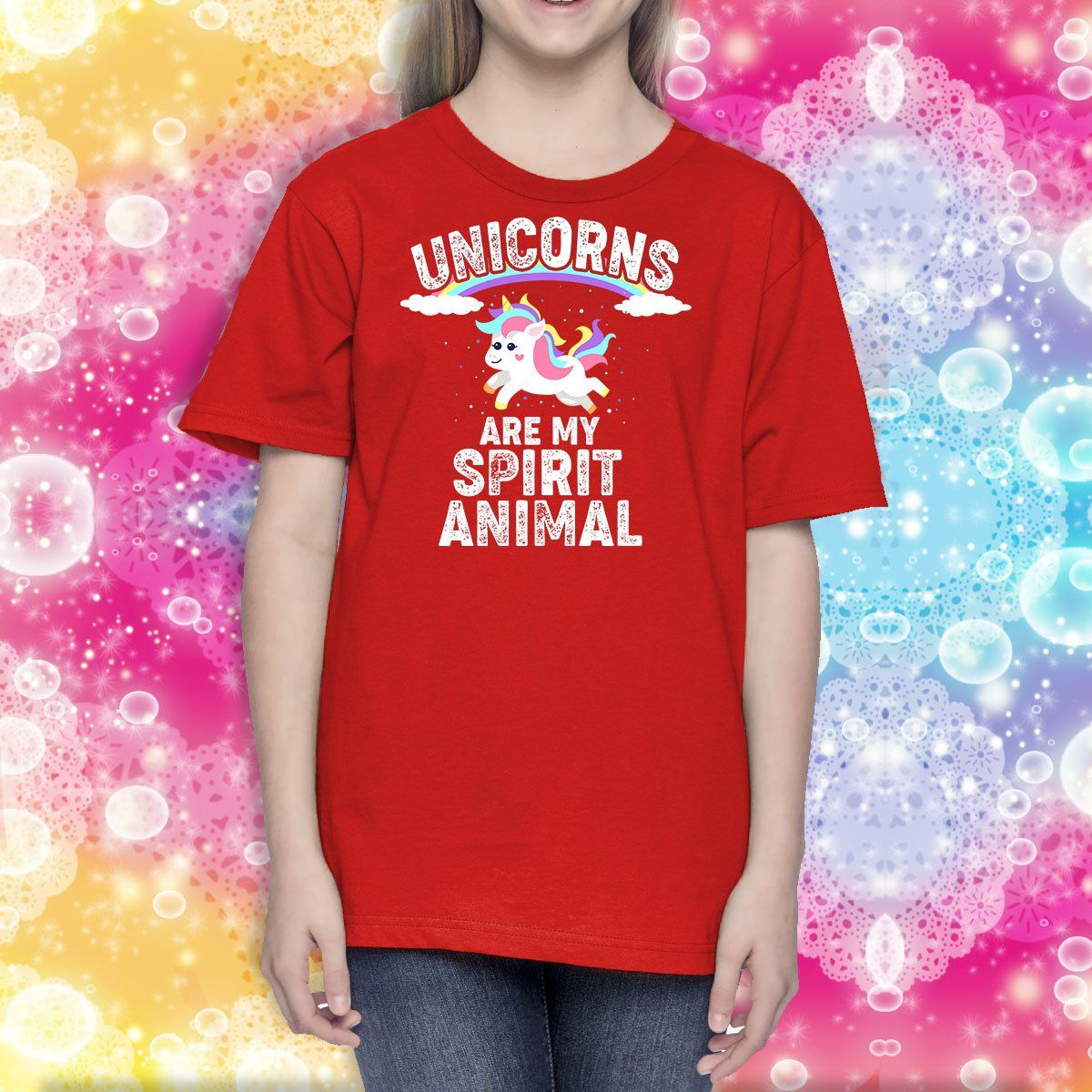 Unicorns Are My Spirit Animal Youth T-Shirt Apparel