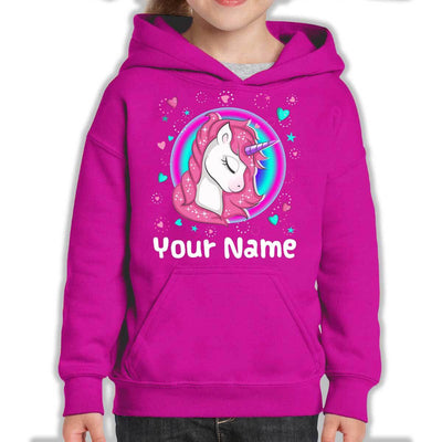 Personalized Magical Unicorn Youth Hoodie Sweatshirts